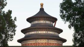 Enfoque hacia fuera cerca encima del tiro del Templo del Cielo, Pekín metrajes