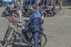 Enforcement Employees At Amsterdam The Netherlands.  stock image