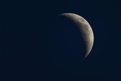 Enfraquecendo a fase crescente da lua Fotos de Stock Royalty Free