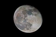 Enfraquecendo a lua gibbous Fotografia de Stock