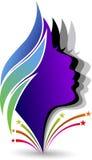 Enfrenta o logotipo ilustração do vetor