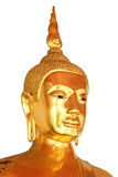 Enfrente a estátua de buddha do close up isolada no fundo branco Foto de Stock Royalty Free