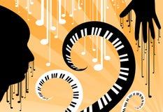 Enfrente a música Ilustração Stock