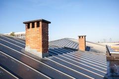 Enfriamiento en un tejado plano foto de archivo libre de regalías