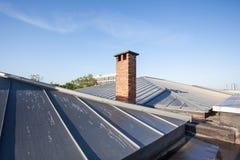 Enfriamiento en un tejado plano fotos de archivo libres de regalías