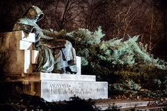Eng Anoniem beeldhouwwerk in Boedapest Stock Foto