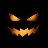 Eng gezicht van Halloween pompoen Royalty-vrije Stock Foto