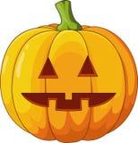 Eng Halloween-pompoenbeeldverhaal royalty-vrije illustratie