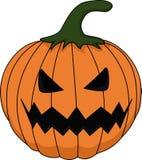 Eng Halloween-pompoenbeeldverhaal vector illustratie