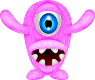Eng roze monster Stock Afbeelding