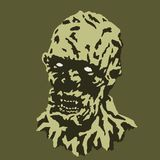 Eng vampierhoofd Vector illustratie Het verschrikkingsgenre royalty-vrije illustratie