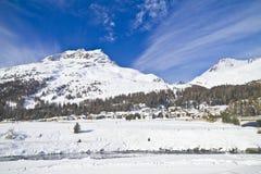 Engadina - la Svizzera Fotografie Stock Libere da Diritti