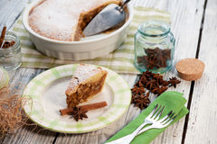 Engadine nut cake (Engadiner Nusstorte) Stock Photography
