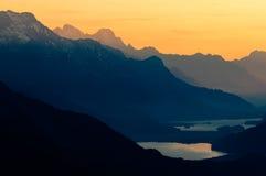 Engadine superiore con la st Moritz del lago Immagine Stock