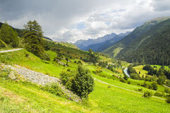Engadine valley (Switzerland) Royalty Free Stock Photography