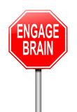 Engage brain concept. Royalty Free Stock Photo
