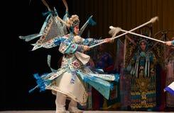 """engage in fierce battle- Beijing Opera"""" Women Generals of Yang Family"""" Royalty Free Stock Photo"""