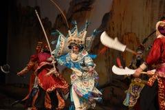 """engage in fierce battle- Beijing Opera"""" Women Generals of Yang Family"""" Stock Photos"""