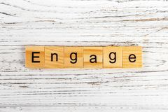 ENGAGE word made with wooden blocks concept stock images