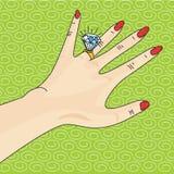 Engaged! Royalty Free Stock Photos