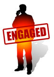 Engaged for business Royalty Free Stock Image