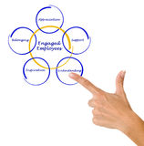 Engaged Employee. What factors lead to Engaged Employee Stock Photo