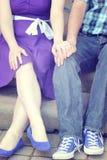 Engaged. Newly engaged Couple holds hand stock photos