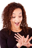 Engaged woman Stock Image