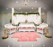 Engagement chair and backdrop. In Thailand Royalty Free Stock Photos