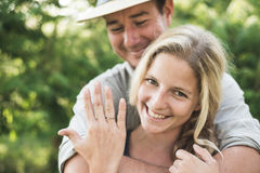 Engagement couple Stock Photo