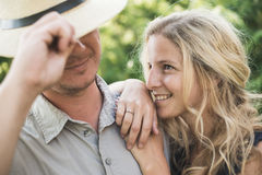 Engagement couple Royalty Free Stock Images