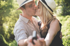 Engagement couple Stock Photos