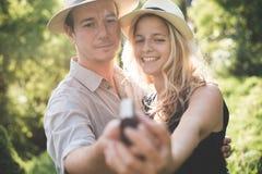 Engagement couple Stock Image