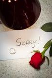 Engagement désolé et cassé Photos stock