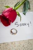 Engagement désolé et cassé Image libre de droits