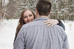 Engagement d'hiver Photos libres de droits
