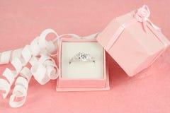 Engagement diamond Stock Photography