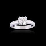 Engagement diamond ring Stock Images