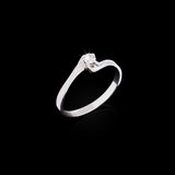 Engagement diamond ring Royalty Free Stock Images