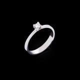 Engagement diamond ring Stock Photo