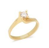 Engagement diamond ring on white background Stock Image