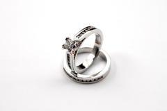 Engagement diamond rings Stock Photo