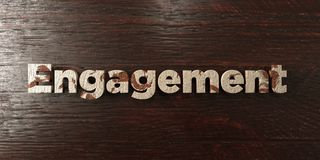 Engagement - grungy wooden headline on Maple  - 3D rendered royalty free stock image Royalty Free Stock Photo