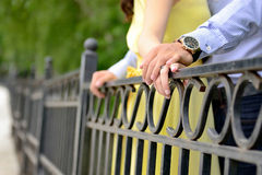 Engagement. Hands holding - stock photo Royalty Free Stock Image