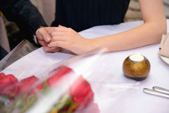 Engagement. Hands holding - stock photo Stock Photo