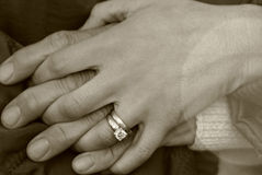 Engagement Holding hands Royalty Free Stock Photos