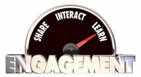 Engagement Level Share Involve Interact Communicate Stock Photo