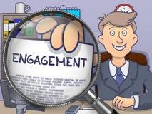 Engagement through Magnifier. Doodle Style. Stock Photos