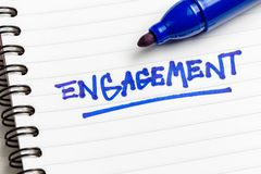 Engagement Note royalty free stock photography