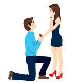 Engagement Proposal Surprise Stock Image